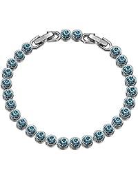 Susan Y Pulseras Mujer, Sueño del Océano Tennis Pulsera Joyería de Mujer, Cristales de Swarovski, Exquisito Joyero