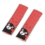 Luchild Seat Belt Pads 2-PACK Comfort Cintura di sicurezza Imbracature per Bambini Toddlers Baby Safety Cushion Seggiolino auto Sostegno per la testa Cintura Cuscino Red Dot Bear