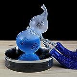GH Auto Kürbis Parfüm Luftreinigung Squeeze Crystal Fransen Kürbis Anhänger Entfernen Sie Geruch,Blue