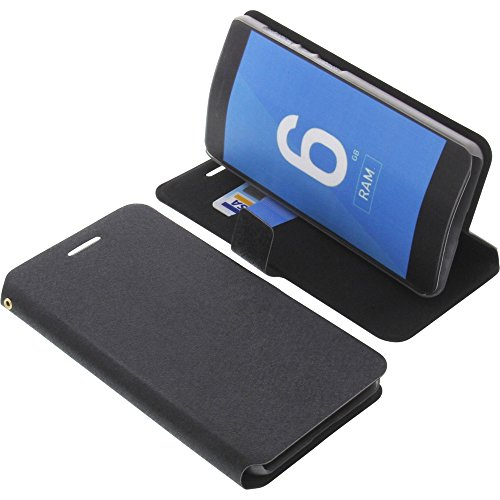 foto-kontor Tasche für Vernee Mars Pro 4G Book Style schwarz Kreditkarte Schutz Hülle Buch