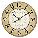 Alice's Collection - Grande Reloj de Pared - Vintage - Madera MDF, Dia 60 cm