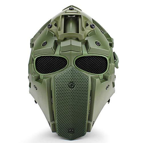 HobbyAnt Multifunktionaler Motorradhelm/Motocross-Helm/Militärhelm, verstellbar, mit Fächer, Maske und Brille, Braun