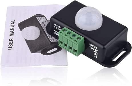 Festnight Interrupteur Infrarouge Automatique de capteur de Mouvement de Corps PIR Interrupteur Mural /à LED
