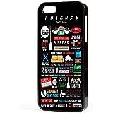 Friends televisión Sitcom Citas Divertidas carcasa iPhone apto para Apple iPhone 4 , 4s , 5 , 5s , 5c , 6 , 6 plus - Negro, Para Apple iPhone 5/5s