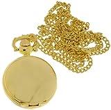 B393 Damen Taschenuhr, hochwertiges Quarzwerk in IPG vergoldet