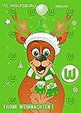 Adventskalender mit Milchschokolade VFL WOLFSBURG (120 Gramm / 35 x 25 x 1,5 cm) Limited Fan Edition