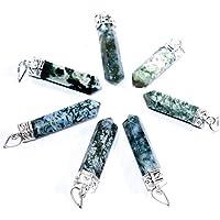 Pendant - Moss Agate Point Set Of 5, Healing Jewelry, Crystal Jewelry, Crystal Point Pendant, Healing Pendant,... preisvergleich bei billige-tabletten.eu