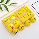 COI Cute 3D Smiley Faces Erasers/Assorted Style Student Stationery Ideal for Return Gift