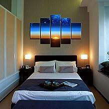 YESURPRISE Impresión En Lienzo Nuevo Para Pared Decoración Para Hogar Sala Cocina Dormitorio Puesta de Sol de Mar (sin marco o bastidor)