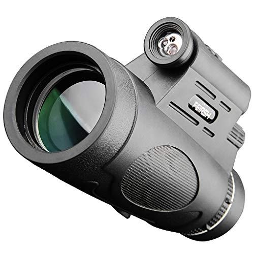 eskop Monokulare HD Low Light Nachtsicht Nicht Infrarot Konzert Kinder Beobachten Sterne Handy Teleskop T1712 * 50 + Große Halterung + Foto Clip Beobachtungsausrüstung ()