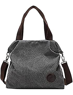Schultertasche Damen Casual Tasche Canvas Handtasche mit Schultergürtel Umhängetasche