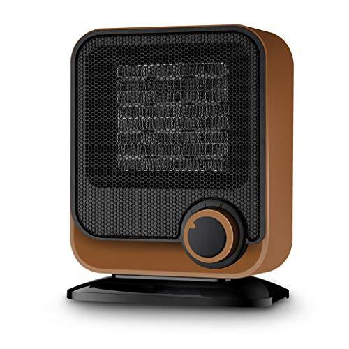 Heizgeräte, Stromeinsparung im Haus Mini Desktop Dumping Automatisches Ausschalten PTC Ceramic Schnelle Heizung Elektrische Heizung (Farbe : Brown)
