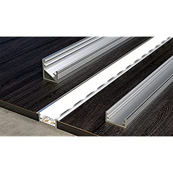 Profile pl1 anser 2m anodised aluminium for led strips opal 2 meters aluminium channel for led strip light with cover pvc profile from cezar by tmw profiles corner channel transparent bar mozeypictures Images