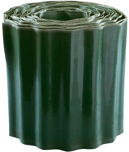 Connex Rasenkante 20 x 900 cm, grün PVC / Beeteinfassung / Beetumrandung / Mähkante / Raseneinfassung / FLOR14220