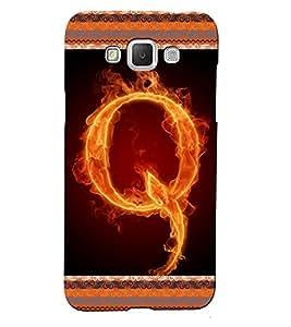 Fuson 3D Printed Alphabet Q Designer back case cover for Samsung Galaxy Grand 2 G7106 / G7102 - D4207