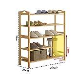 Xiejia Bambus Einfache Schuhe Regal Multi-Layer-Staubdicht Multifunktionale Schuhregal Hause Stiefel Fünfstöckigen Schuhregal freistehende Regal (Größe : 70*26*93cm)