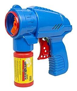 Idena 40089Pistola de pompas de jabón Azul, Incluye Solución de pompas de jabón 53ml