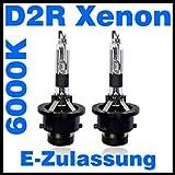 Tuningmods - Bombillas xenón de repuesto para Philips, Osram 85126 WX y 66250, Nissan, Volvo, Mercedes, Mini y ColorMatch  (2 unidades, D2R, certificado E, 6000 K)