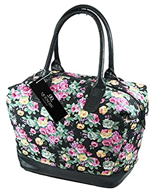 15 COLOURS Canvas Travel Holdalls - Weekend Overnight Bags - Medium Size Holiday Duffle Bag - Ideal Womens Ladies Gym Holdall - Hand Luggage Cabin Baggage 50cm x 30 x 25, 35 Litre - QL216M