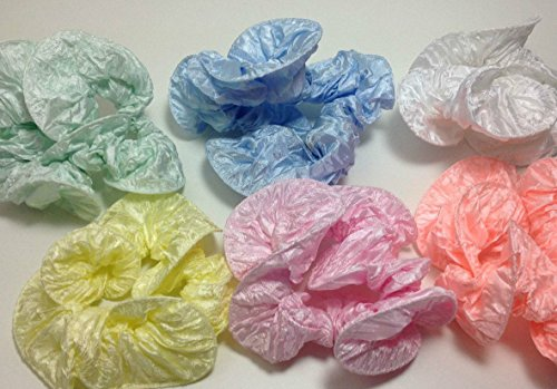 6x niavida Scrunchie Haargummi SUMMER ROMANCE - tolle Farben in Grün Blau Weiß Gelb Rosa Apricot (Rosa Scunci)