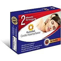 Nasenpflaster groß x60 | RuneSol® Nasenstrips stoppen das gegen Schnarchen und helfen Ihnen direkt durch die Nase... preisvergleich bei billige-tabletten.eu