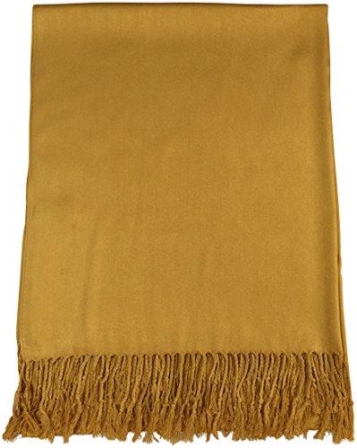 Gold Einfarbiges Design Stola Schal Umschlagtuch Schultertuch Tuch CJ Apparel
