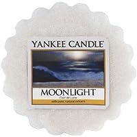 YANKEE CANDLE 1507667E - 22 g Luz de Luna Tarta de Mantequilla de Cera aromatica, Cera, Color Gris, 5.9x6x2 cm