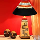 Kalaplanet Handpainted Wooden Lamp