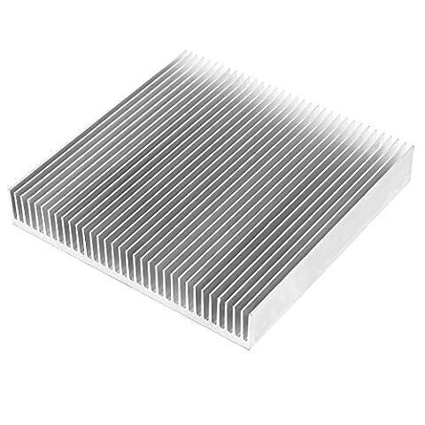 sourcingmap® Couleur Argent Radiateur En Aluminium Dissipateur De Chaleur Thermorétractable 90mm x 90mm x