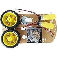 SODIAL (R) Battery Box WST motore intelligente robot auto telaio Kit velocit¨¤ dell'encoder