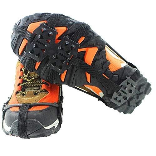 Outdoor-Sportgeräte Outdoor-Eis Schneegriffe for Stiefel Schuhe, 24 Zähne Edelstahl Anti-Rutsch-Traktions-Eisplatten, langlebige rutschfeste Schneespikes for Frauen Männer, Steigeisen zum Gehen, Jogge -