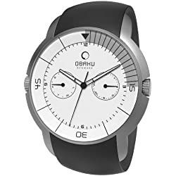 Obaku Harmony Men's Quartz Watch V141GCIRB with Leather Strap