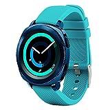 Correa de repuesto para smartwatch de Fit-power de 20 mm, compatible con Samsung Gear Sport, Samsung Gear S2 Classic, Huawei Watch 2 Watch y Garmin Vivoactive 3