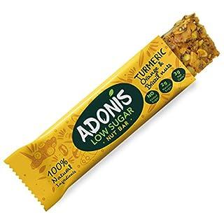 Adonis Low Sugar Kurkuma Snack Nuss Riegel | 100% Natural, Low Carb, Glutenfrei, Vegan, Keto, Paleo (10)