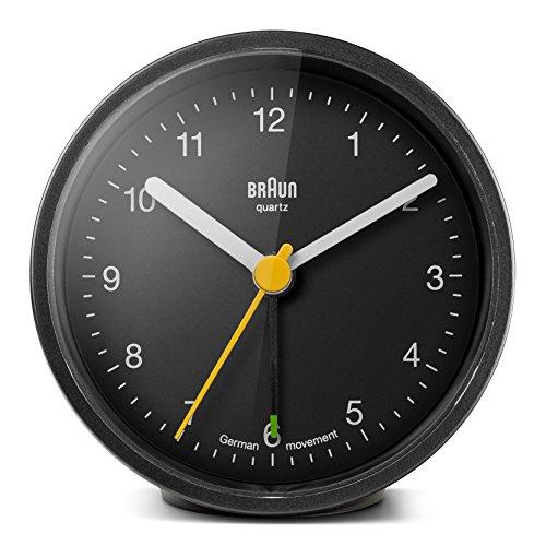 Braun BNC-012-BKBK - Reloj despertador clásico analógico, color negr