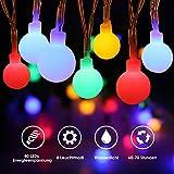 LED Lichterkette Batterie, ECOWHO 4,5M 40 LEDs Wasserdicht Kugel Lichterkette Weihnachten Dekorative Lichterketten für Zimmer, Party, Garten, Hochzeit (Bunt)