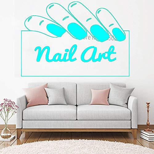 zqyjhkou Nail Art Signage Wandtattoo Nagelstudio Shop Wandaufkleber Tür Glas Fensternägel Maniküre Decals Beauty Salon Art Decor 6 S 61cm x 42cm