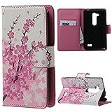 LG L Fino Lederhülle Taschen Wallet Case Flip Cover