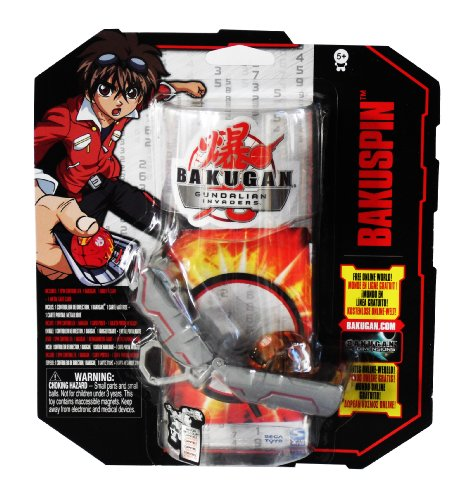 Bakugan Gundalian Invaders S3 Bakuspin brun avec 1 Spin Controller, 1 Bakugan, 1 Ability Card et 1 Metal Gate Card (#20038270)