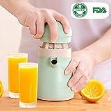 Orange Juicer Manual Fruit Squeezer, Alxcio FDA Certificated Hand Press Juicer, Kitchen Manual Squeezer, Mom Baby Safe Juice Reamer for Oranges,Lemons Lime Citrus, Apple, Pear, Fruits and Vegetables.