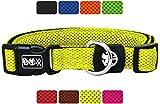 DDOXX Hundehalsband Air Mesh in vielen Farben & Größen für kleine & große Hunde | Halsband Hund Katze Welpe | Katzenhalsband klein | Hunde-Halsbänder breit Leuchtend | Gelb, S
