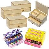 Baker Ross Joyeros de madera que los niños pueden decorar y personalizar (pack de 2)