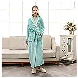 OMFGOD Der Frauen Winter Bademantel dick lang Flanell Grün Flansch Schlafanzug Mode Bequem Freizeit Nacht Kleid, Bild, M