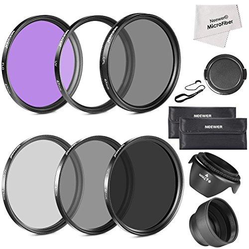 Neewer® 67MM Muss Objektiv-Filter Zubehör-Set für Canon Rebel T3i T5i T4i T3 T2i, EOS 700D 650D 600D 550D 70D 60D 7D 6D DSLR-Kameras mit EF-S 18-135mm IS STM Zoomobjektiv - Inklusive: 67MM Filtersatz (UV, CPL , FLD) + ND Graufilter Set (ND2, ND4, ND8) + Tragetasche + Faltbare Sonnenblende + Tulpen Lichtblende + Snap-On Objektivdeckel + Kappe Hüter Leine + Mikrofaser Reinigungstuch