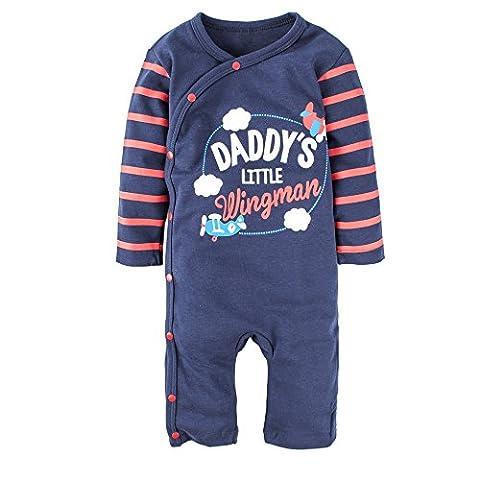 BIG ELEPHANT Baby Jungen 1 Stück Langarm Grafik Spielanzug Pyjama J49