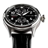 Panzera-Flieger-47-Arado-Automatic-Stainless-Steel-316L-Power-Reserve-Pilot-Black-Leather-Mens-Watch