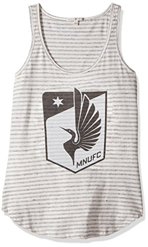 Junk Food Damen Tank, Damen, Clothing Major League Soccer Women's Tank, Sun/Grey, Small -