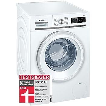 Siemens IQ700 WM14W570 Waschmaschine 800 Kg A 196 KWh 1400 U Min Schnellwaschprogramm Nachlegefunktion AquaStop