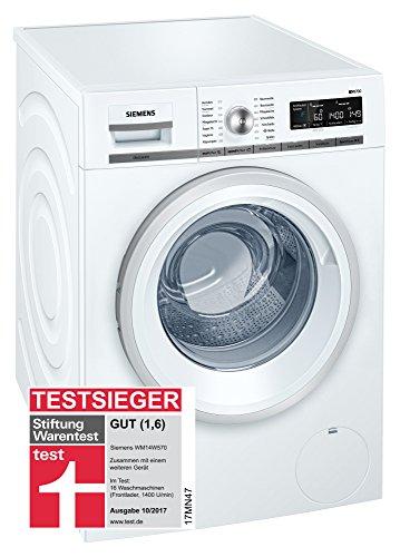 Siemens iQ700 WM14W570 Waschmaschine / 8,00 kg / A+++ / 196 kWh / 1.400 U/min / Schnellwaschprogramm / Nachlegefunktion / aquaStop mit lebenslanger Garantie /