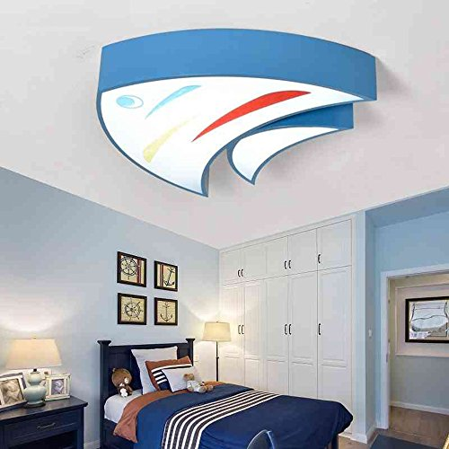 (ZHANGRONG-Gute Qualität-- Creative Cartoon Fisch Kinderzimmer LED Deckenleuchten für Schlafzimmer / Kindergarten / Klassenzimmer / Pool / Aquarium (blau, rot, gelb) --Efficiency:A+++ ( Farbe : Weißes Licht-Blau-45 cm ))